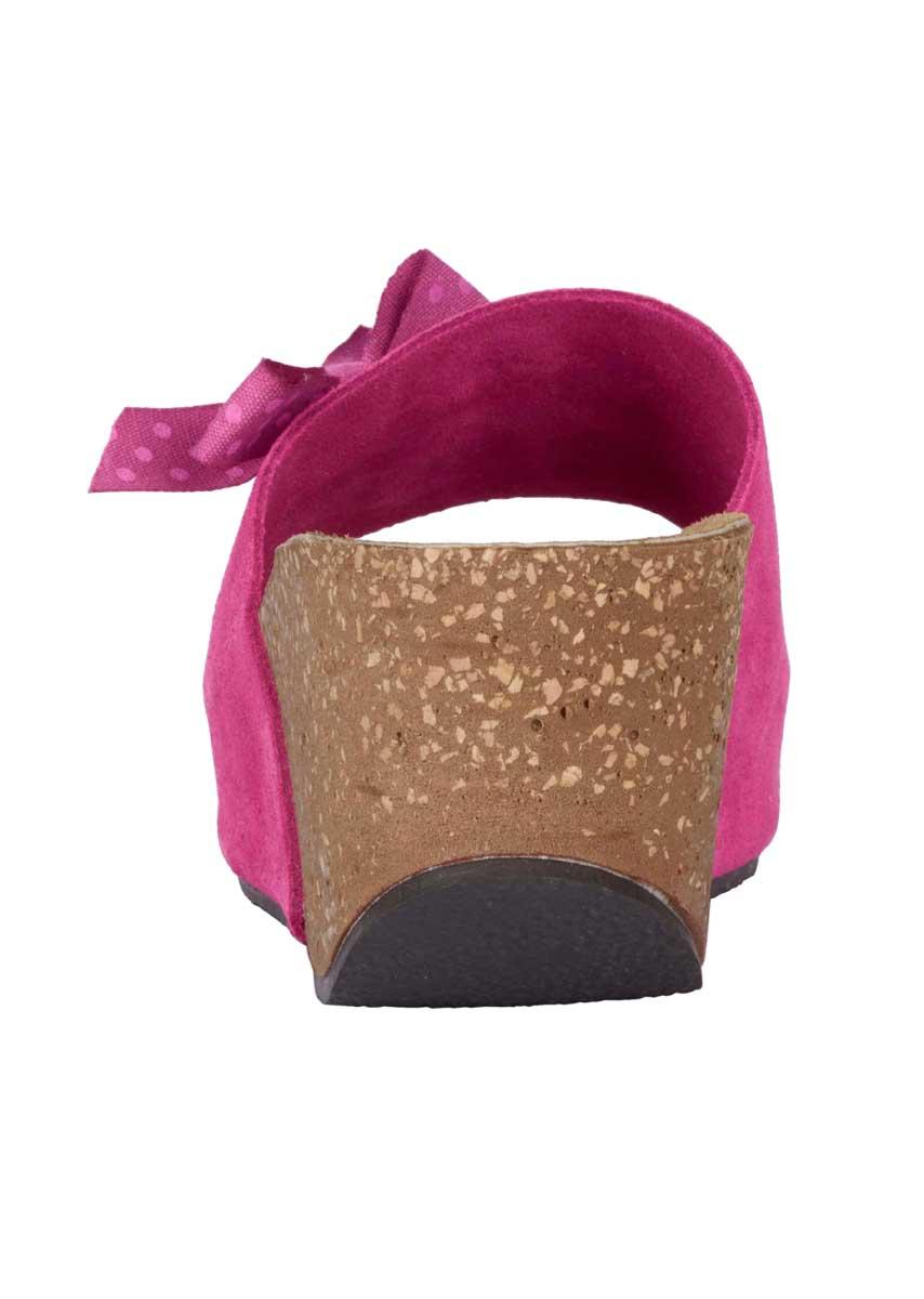 316.160 HEINE Damen Designer-Veloursleder-Pantolette Pink