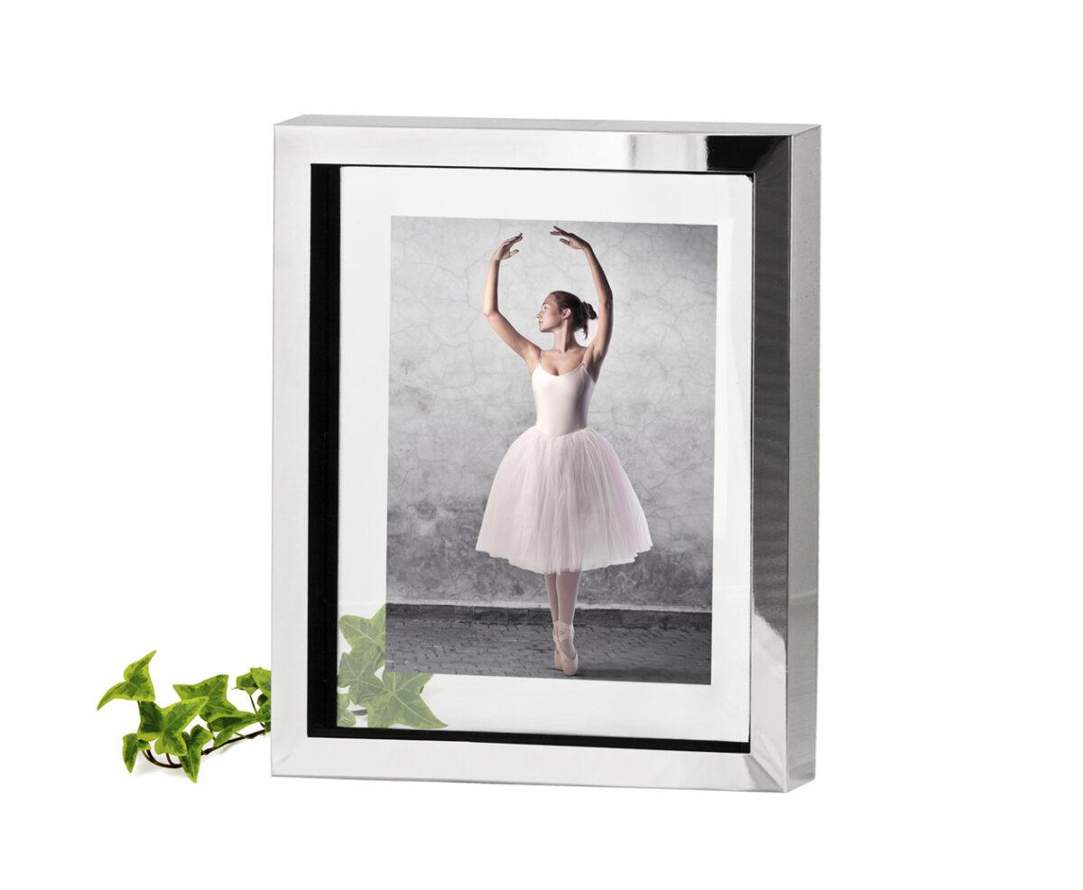 2188 Fotorahmen Bilderrahmen Caserta für Foto 13 x 18 cm, edel versilbert, anlaufgeschützt