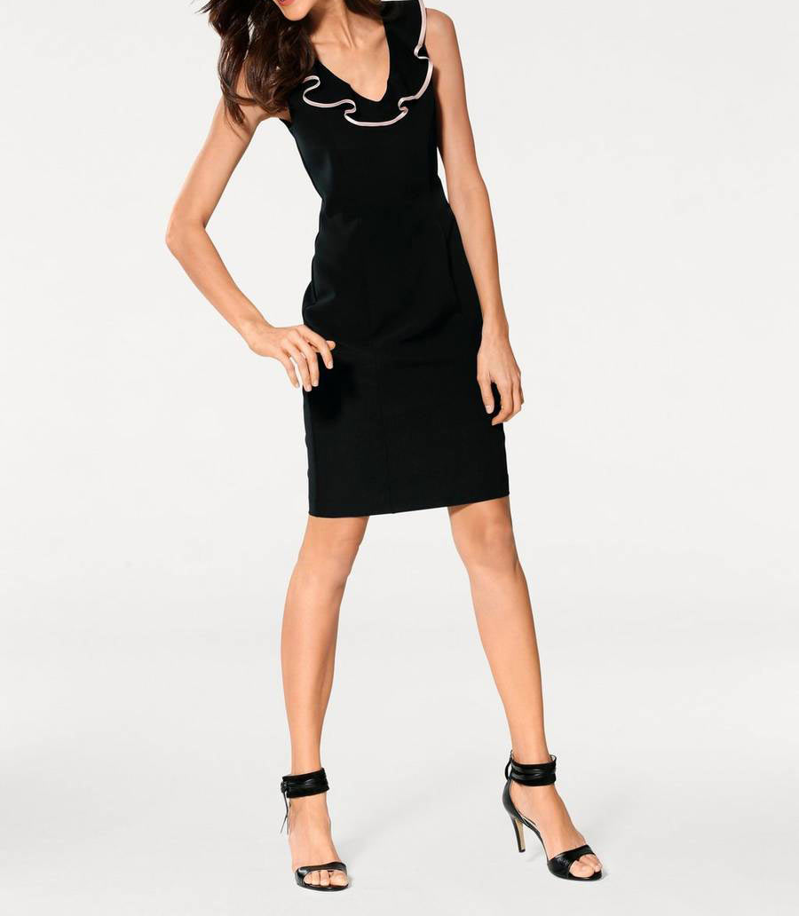 business kleider für damen ASHLEY BROOKE Damen Designer-Bodyforming-Etuikleid Schwarz 008.684 Missforty