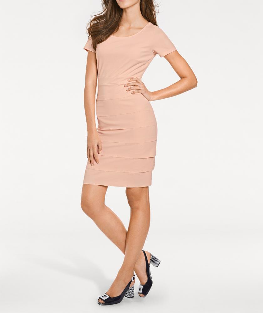 business kleider für damen ASHLEY BROOKE Damen Designer-Bodyforming-Etuikleid Puder 009.043 Missforty