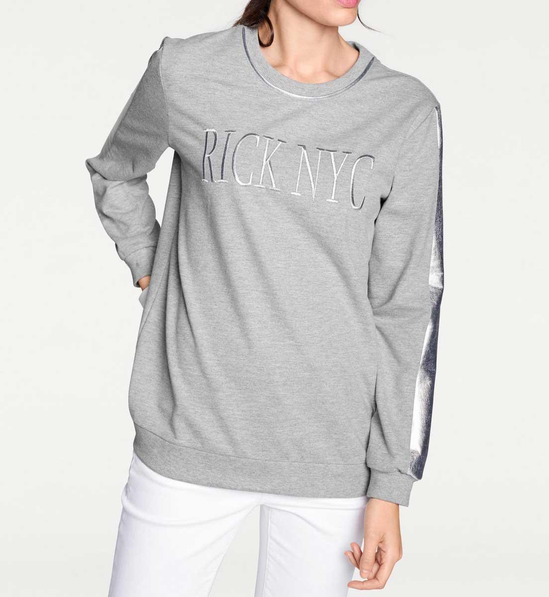 sweatshirts auf rechnung Sweatshirt, grau-melange von Rick Cardona Grösse 38 010.252 MISSFORTY