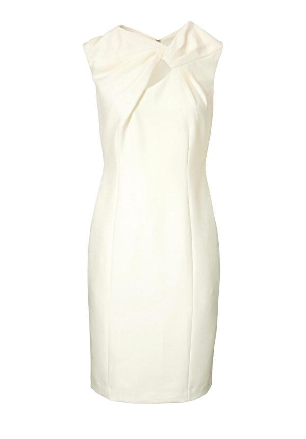 business kleider für damen Patrizia Dini Etuikleid ecru 014.378a Missforty