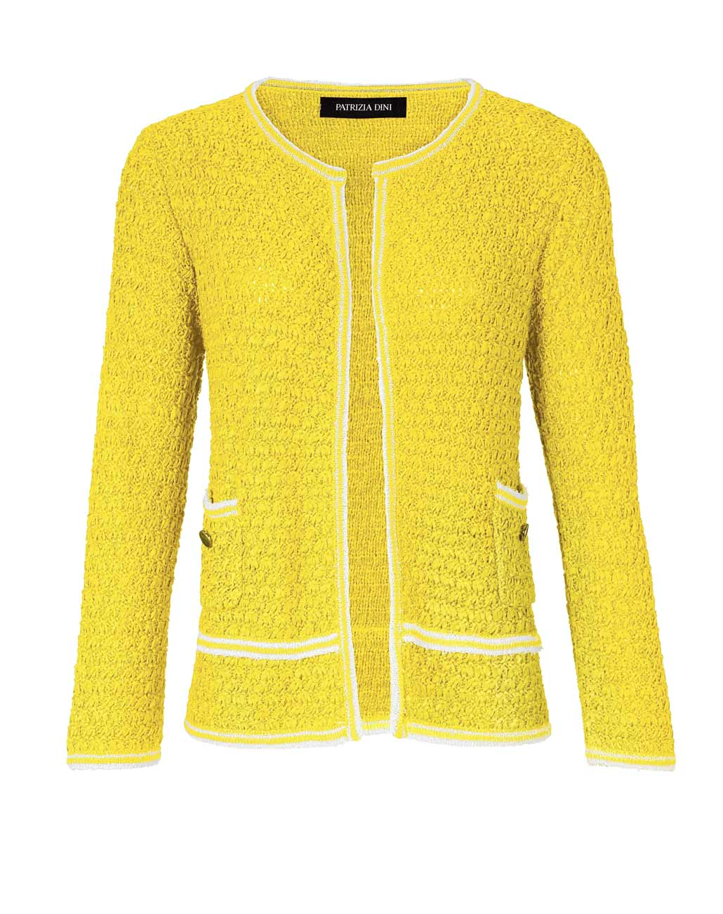 023.835 Damen Strickjacke neu Damen Cardigan Pullover gelb Blazer Jacke Strick