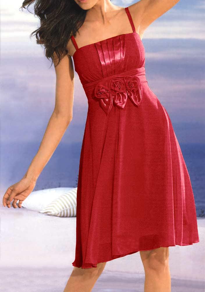 kurzes kleid für besondere anlässe Cocktailkleid, rot von Ashley Brooke event Grösse 40 035.199 Missforty
