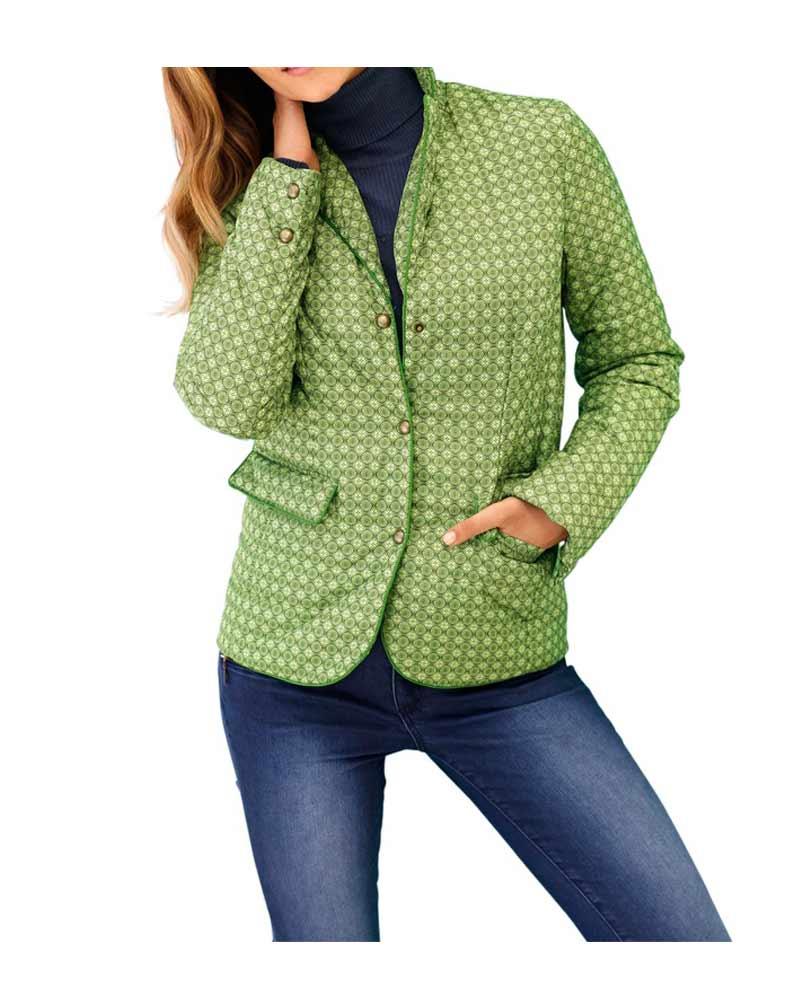 jacken auf rechnung bestellen als neukunde HEINE Damen Designer-Steppjacke Übergangsjacke Herbst Gefüttert Warm Grün 035.428 MISSFORTY
