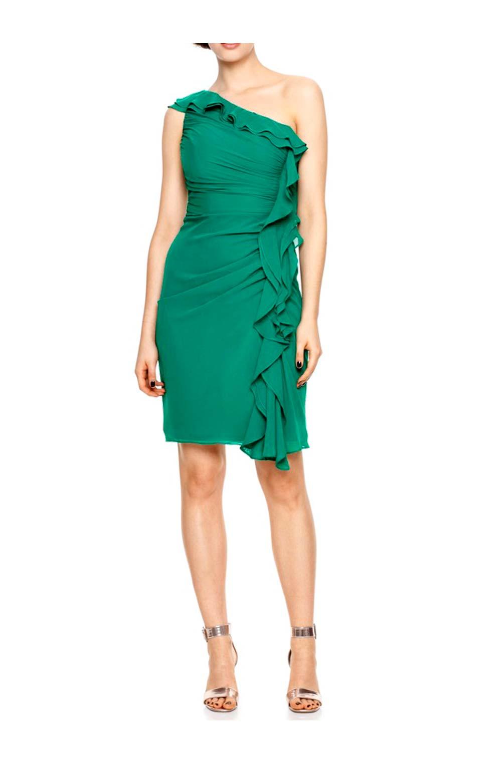 kurzes kleid für besondere anlässe ASHLEY BROOKE Damen Designer-Cocktailkleid Grün 056.264 Missforty