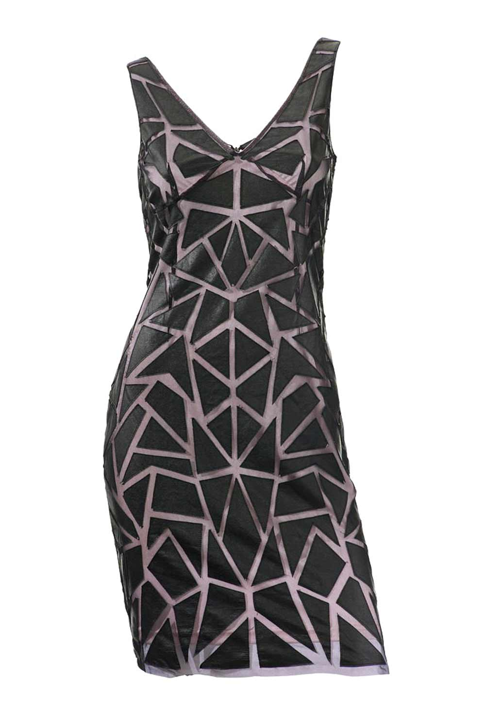 kurzes kleid für besondere anlässe ASHLEY BROOKE Damen Designer-Cocktailkleid Schwarz-Mauve 059.354 Missforty