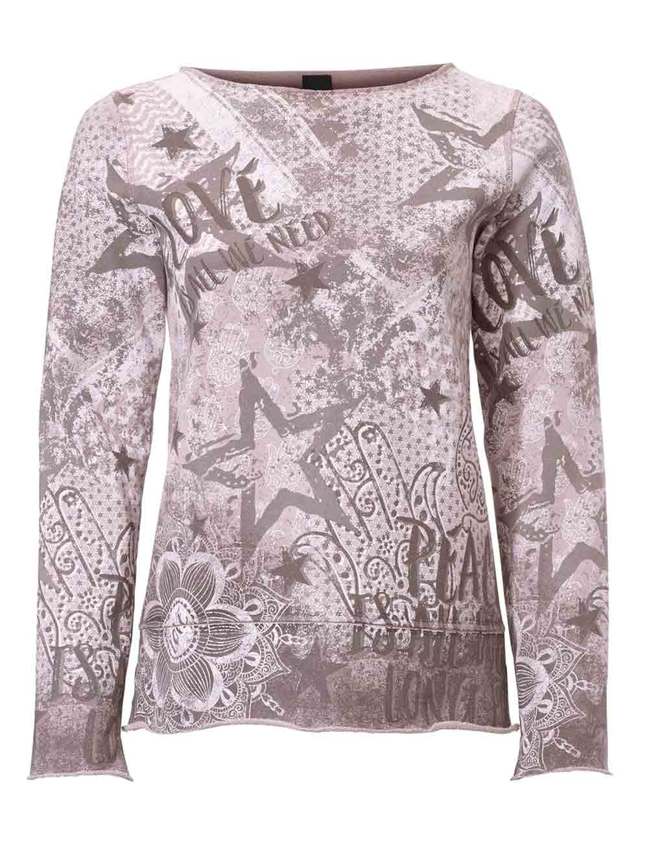 sweatshirts auf rechnung HEINE Damen Designer-Wende-Sweatshirt Mauve 061.459 MISSFORTY