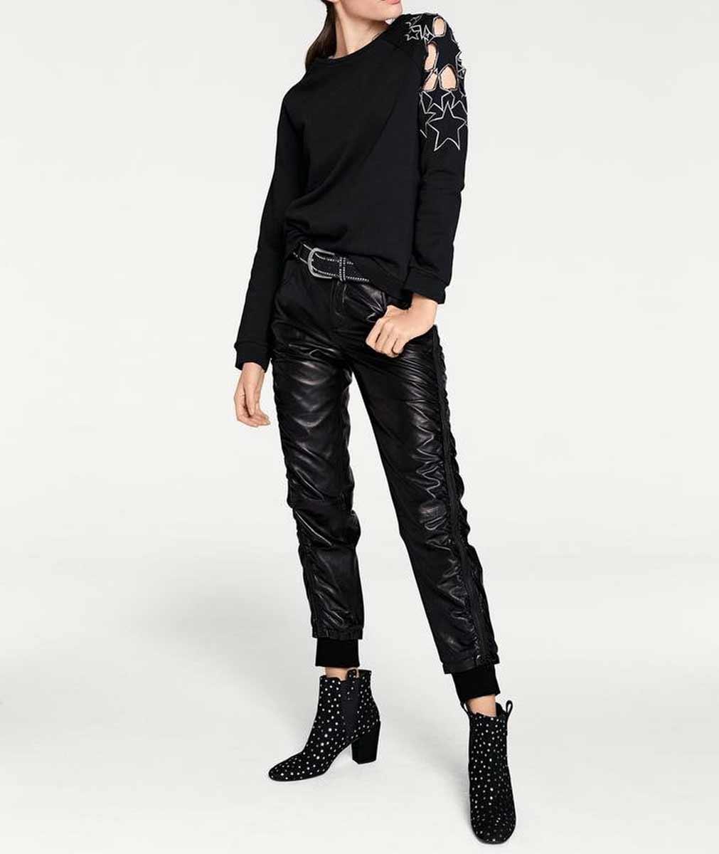 sweatshirts auf rechnung HEINE Damen Designer-Sweatshirt m. Stickerei Schwarz 073.399 MISSFORTY