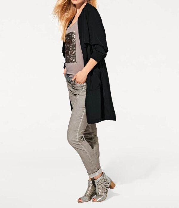 Damenmäntel Frühjahr 2021 HEINE Damen Designer Mantel Tailliert schwarz Best Connections 081.568 Missforty