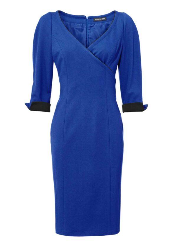 business kleider für damen PATRIZIA DINI Damen Designer-Etuikleid Royalblau 091.443 Missforty