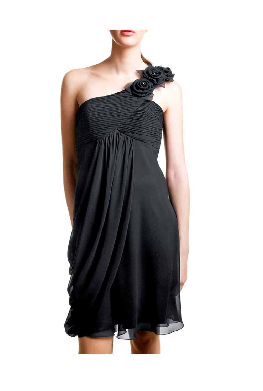 kurzes kleid für besondere anlässe Chiffon-Abendkleid, schwarz von doridorca Grösse 40 095.854 Missforty