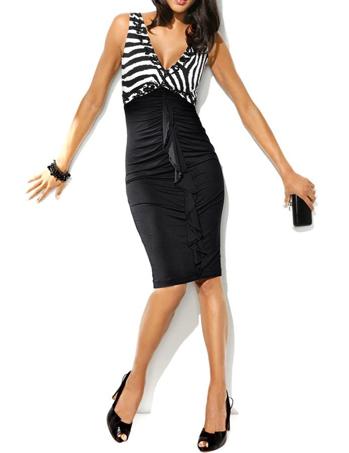 kurzes kleid für besondere anlässe Kleid m. Pailletten, schwarz-weiß von Carry Allen by Ella Singh Grösse 40 097.125 Missforty