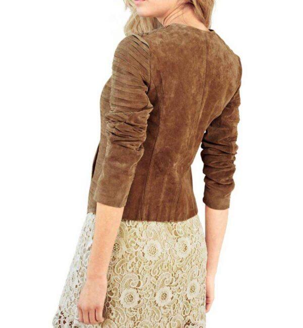 jacken auf rechnung bestellen als neukunde Rick Cardona Designer Damen-Lederjacke Jacke Gesteppt m. Futter Cognac Braun 098.826 MISSFORTY