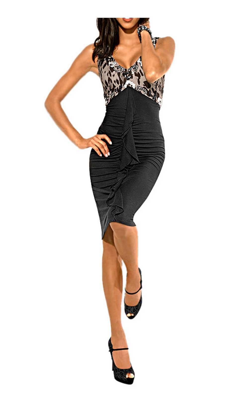 kurzes kleid für besondere anlässe Abendkleid m. Steinen, schwarz-weiß von Carry Allen by Ella Singh Grösse 36 099.532 Missforty