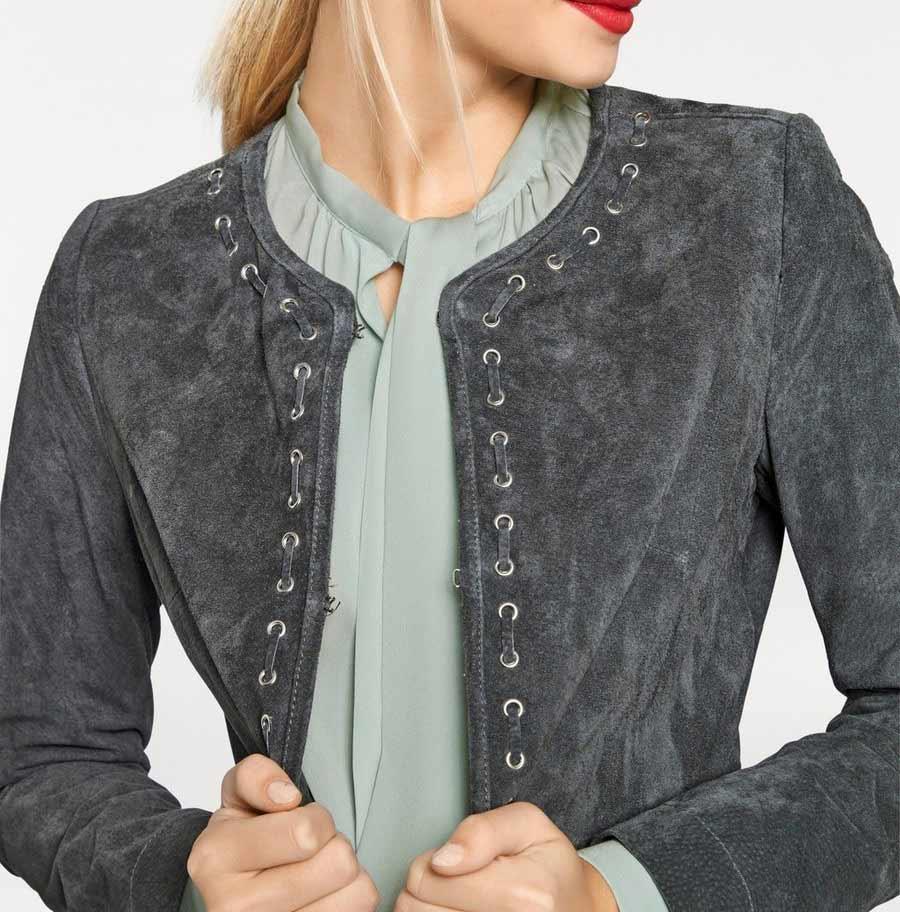 jacken auf rechnung bestellen als neukunde Rick Cardona Damen Designer-Ledermantel 106.596 MISSFORTY