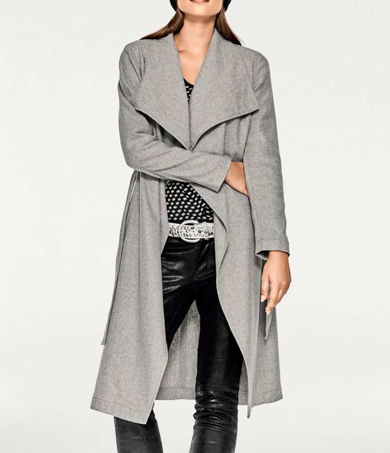 Damenmäntel Frühjahr 2021 RICK CARDONA Damen Designer-Mantel grau 110.713 Missforty