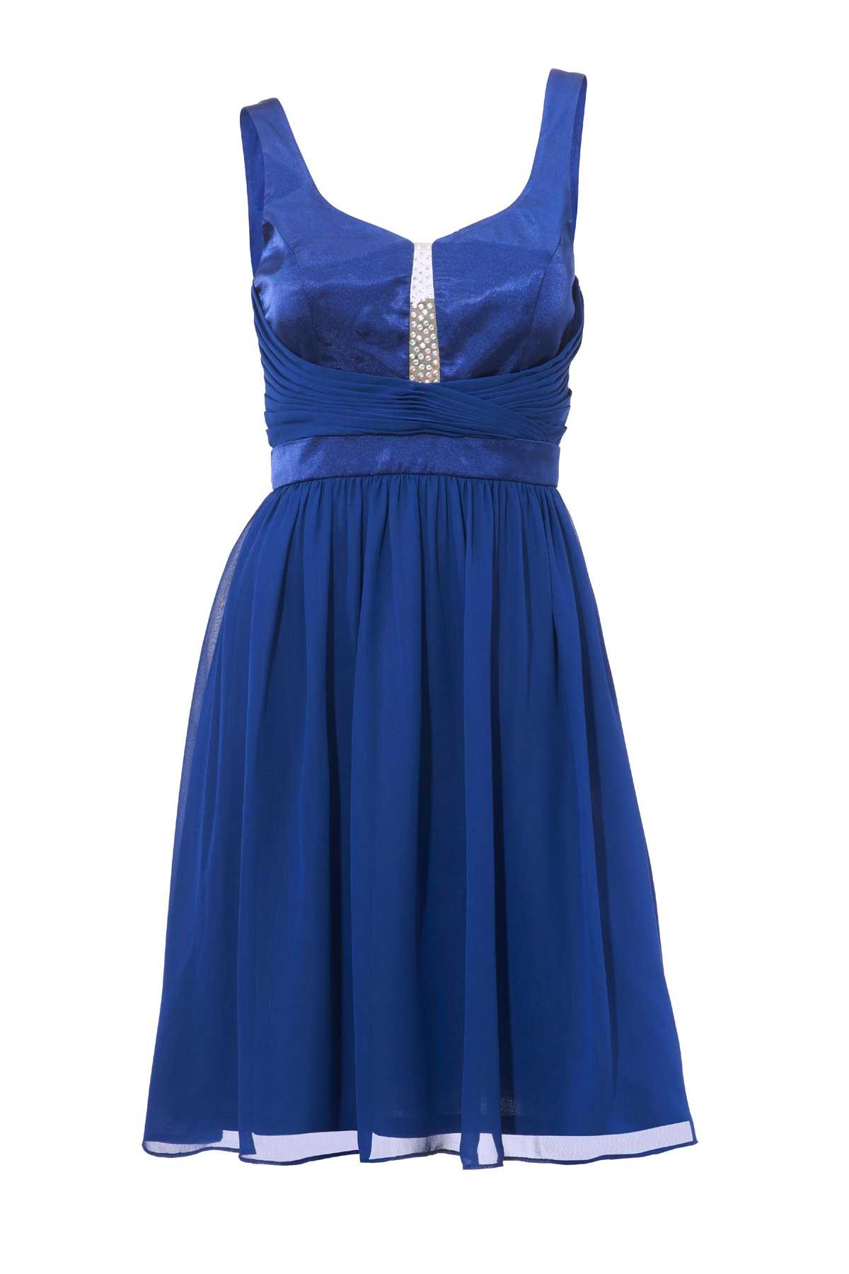 kurzes kleid für besondere anlässe ASHLEY BROOKE Damen Designer-Cocktailkleid Indigoblau 125.234 Missforty