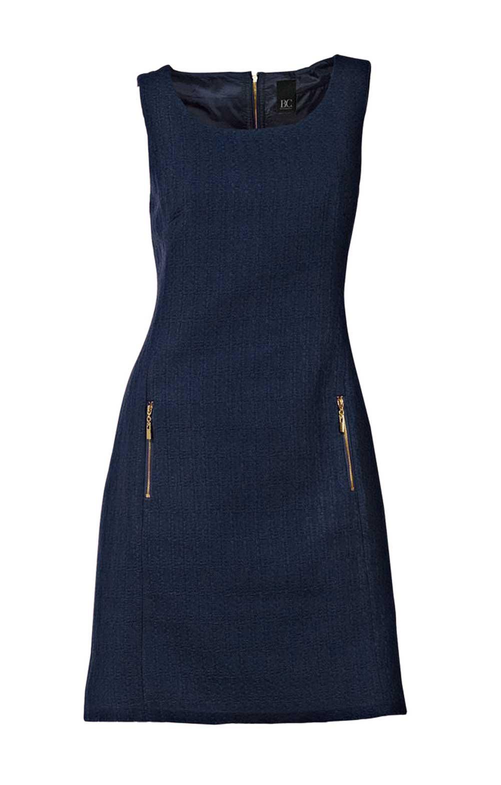 business kleider für damen HEINE Damen Designer-Bouclé-Etuikleid Marine 133.236 Missforty