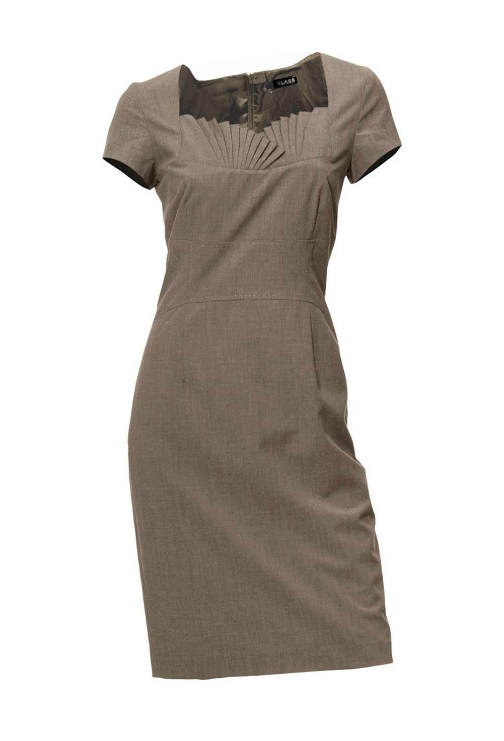 business kleider für damen CLASS INTERNATIONAL Damen-Etuikleid Taupe 166.347 Missforty