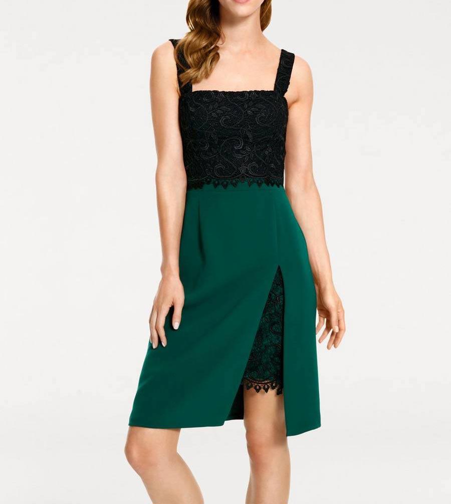 kurzes kleid für besondere anlässe Ashley Brooke Cocktailkleid grün-schwarz 171.817 Missforty