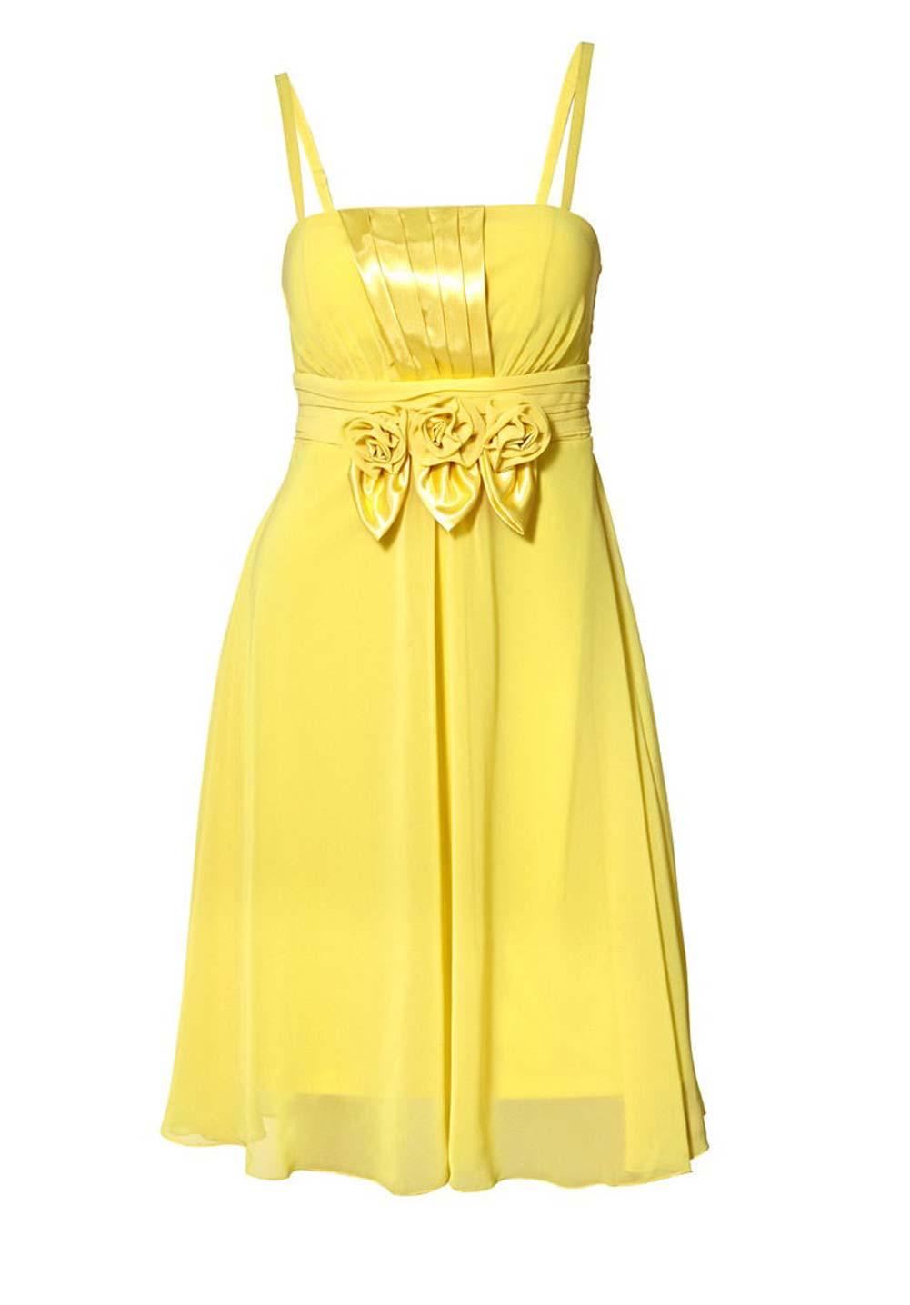 kurzes kleid für besondere anlässe Cocktailkleid, gelb von Ashley Brooke event Grösse 44 175.658 Missforty