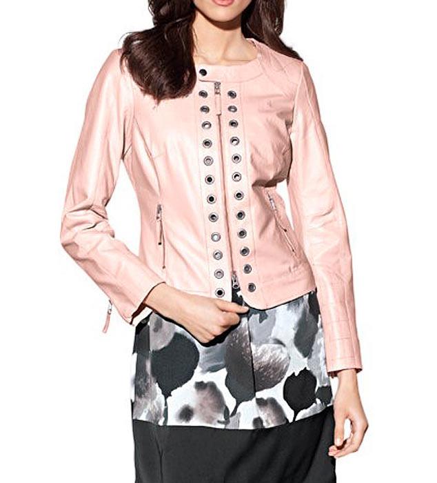 jacken auf rechnung bestellen als neukunde PATRIZIA DINI Damen Designer-Lammnappalederjacke Rosa 183.193 MISSFORTY