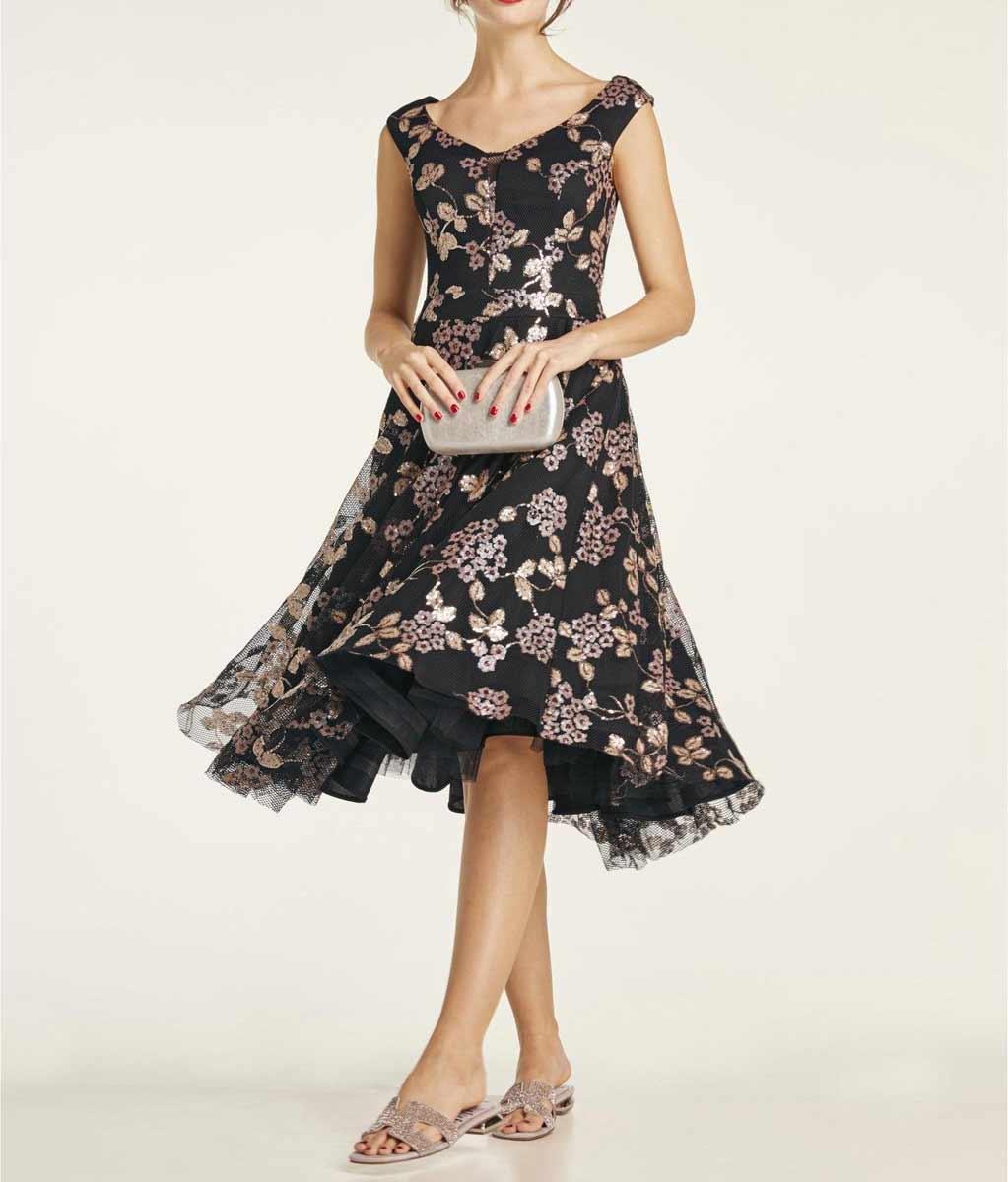 kurzes kleid für besondere anlässe Heine Cocktailkleid mit Petticoat schwarz 195.024a Missforty