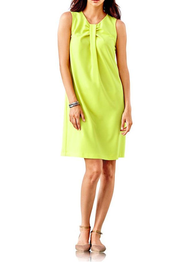 business kleider für damen RICK CARDONA Damen Designer-Etuikleid Limette 197.556 Missforty
