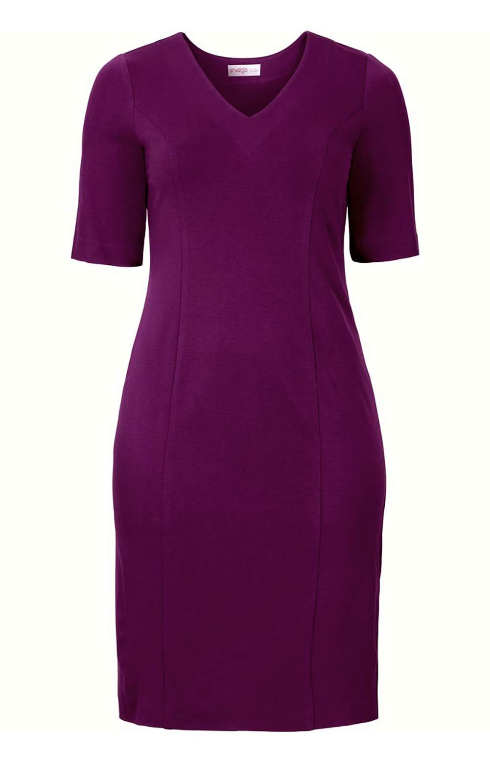 business kleider für damen SHEEGO Damen-Etuikleid Beere 293.268 Missforty