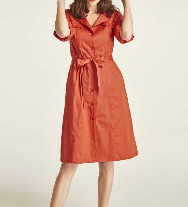 wadenlange kleider für besondere anlässe HEINE Damen Hemdblusenkleid Rost 297.232 missforty