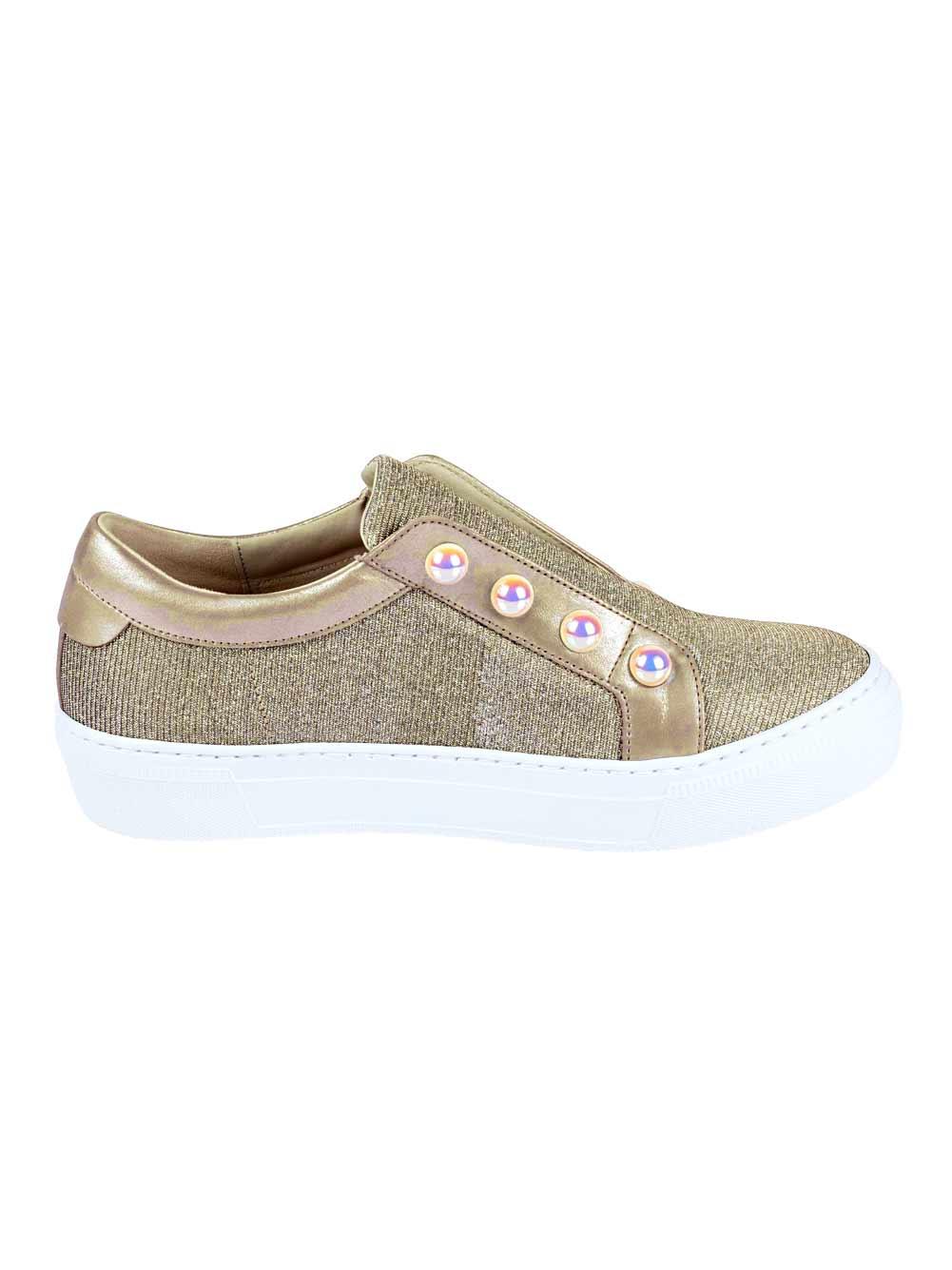 bequeme Schuhe GABOR Sneaker mit Perlen, goldfarben 305.938 Missforty.