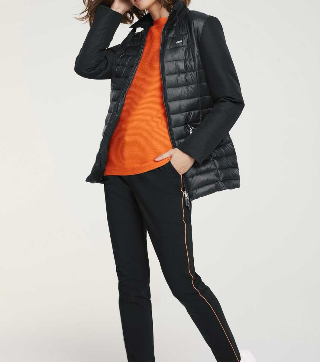 jacken auf rechnung bestellen als neukunde HEINE Damen Designer-Steppjacke Stehkragen Schwarz Glänzend Wattiert Warm 367.429 MISSFORTY