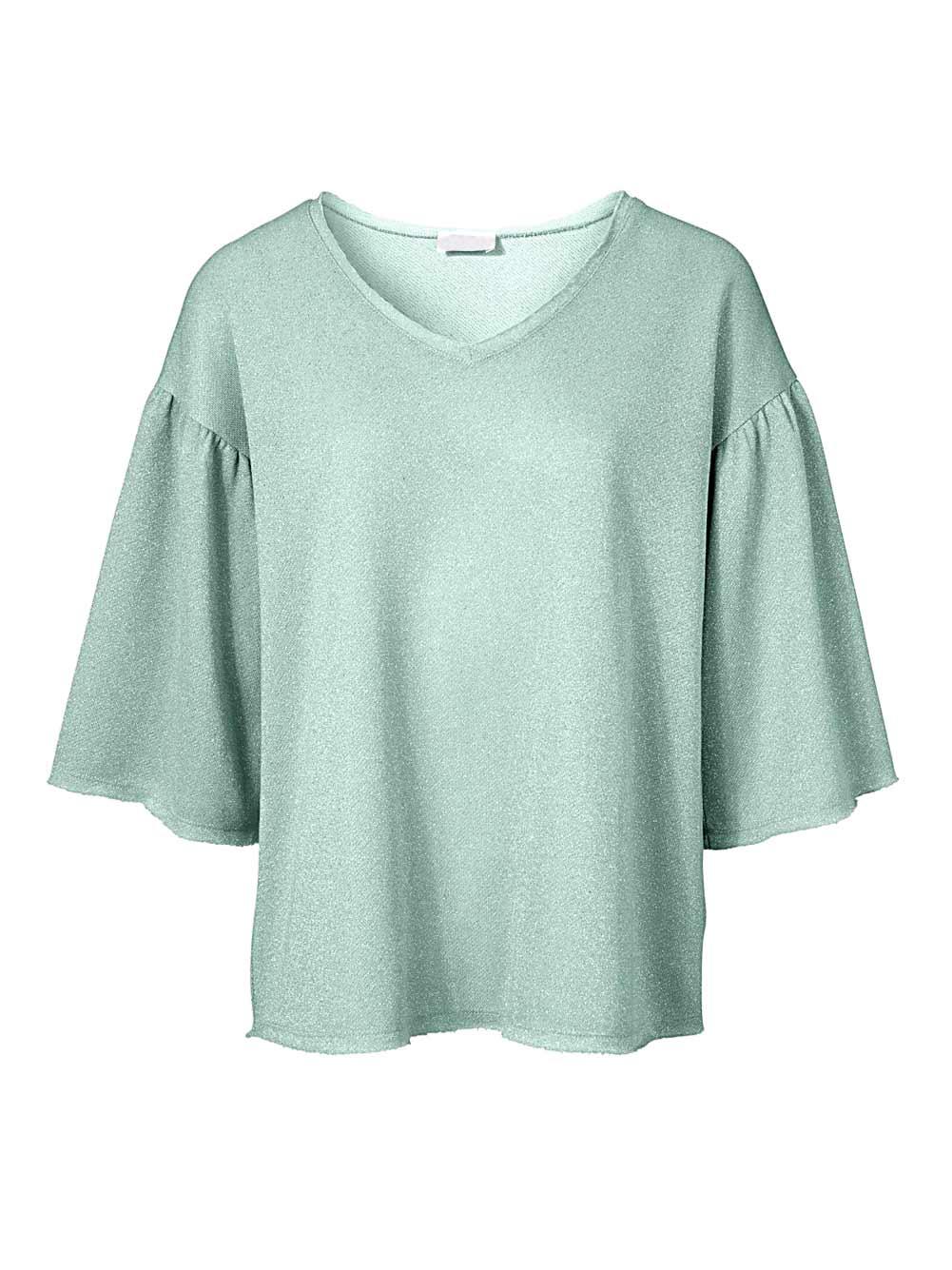 sweatshirts auf rechnung HEINE Damen Designer-Sweatshirt Salbei-Melange 378.391 MISSFORTY