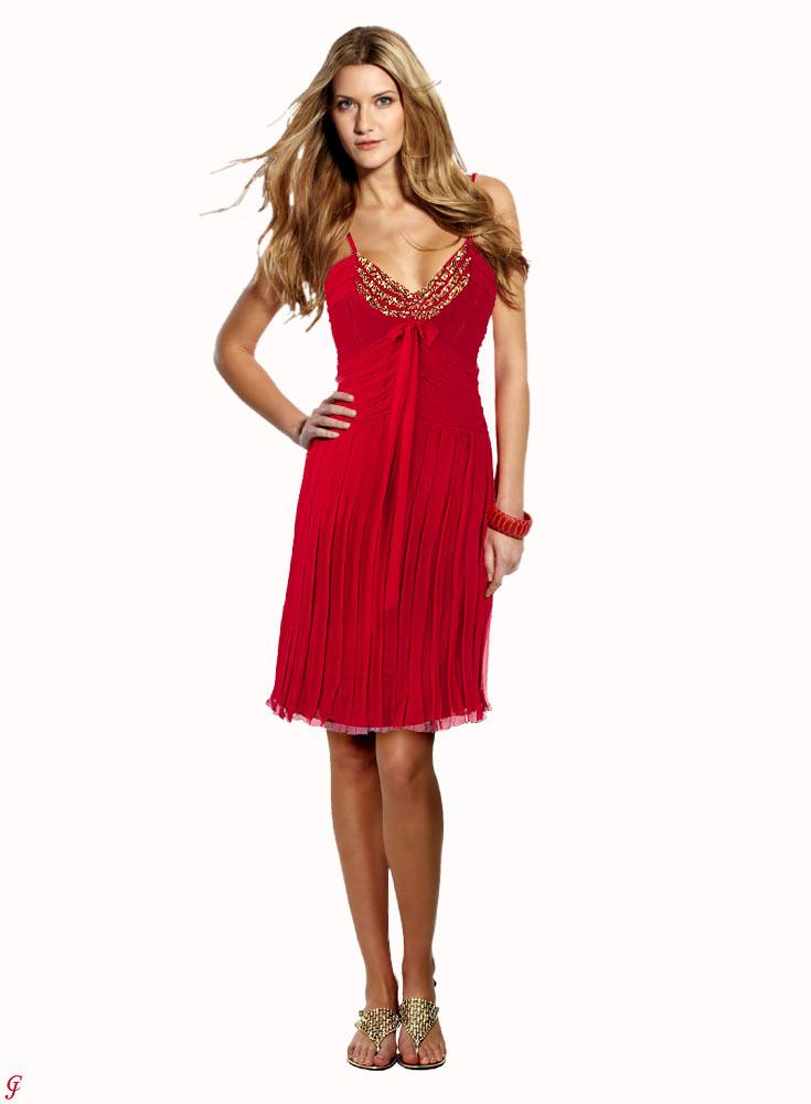 kurzes kleid für besondere anlässe Seiden-Abendkleid rot von BELOUNGED Grösse 36 407.471 Missforty