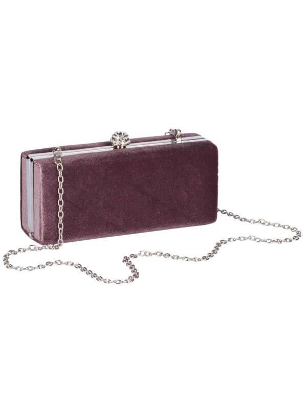 welche tasche zum abendkleid HEINE Damen Designer-Samt-Clutch Altrosa 486.400 Missforty