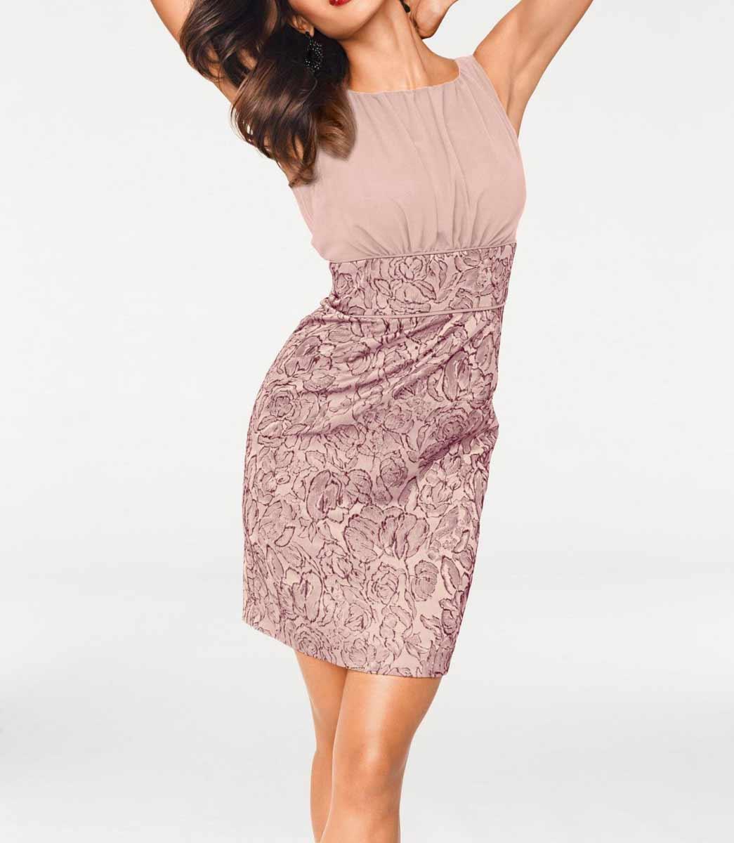 kurzes kleid für besondere anlässe HEINE Damen Designer-Cocktailkleid Rosé 503.362 Missforty