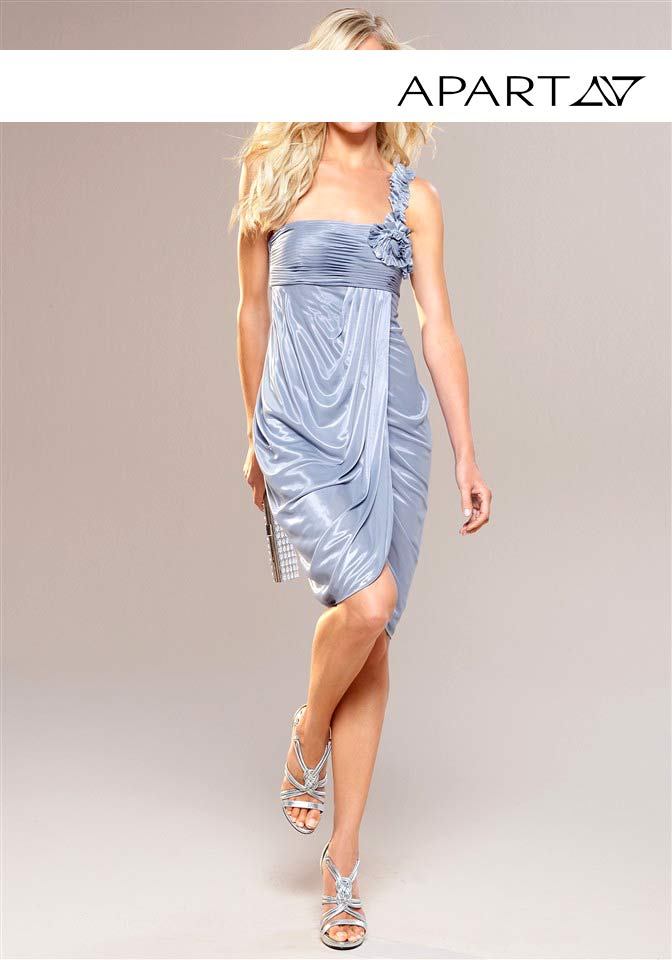 kurzes kleid für besondere anlässe APART Damen Designer-Abendkleid Hellblau 507.506 Missforty