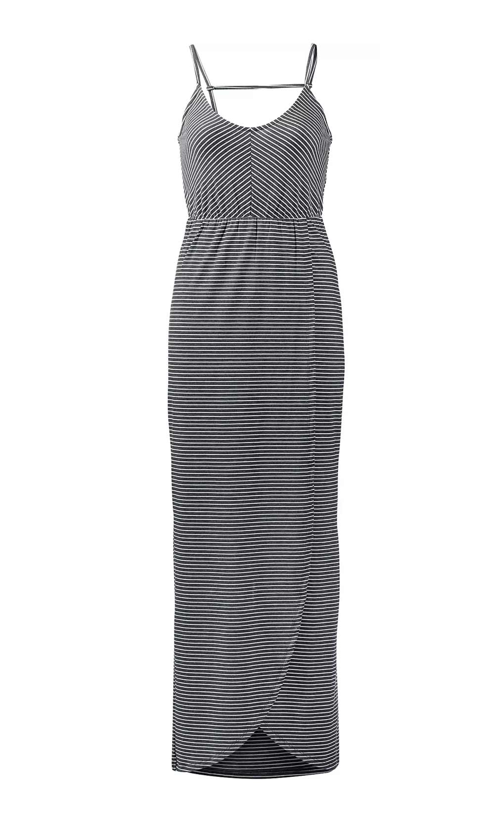 516.254 SUPERDRY Damen Marken-Shirtkleid Grau-Weiß