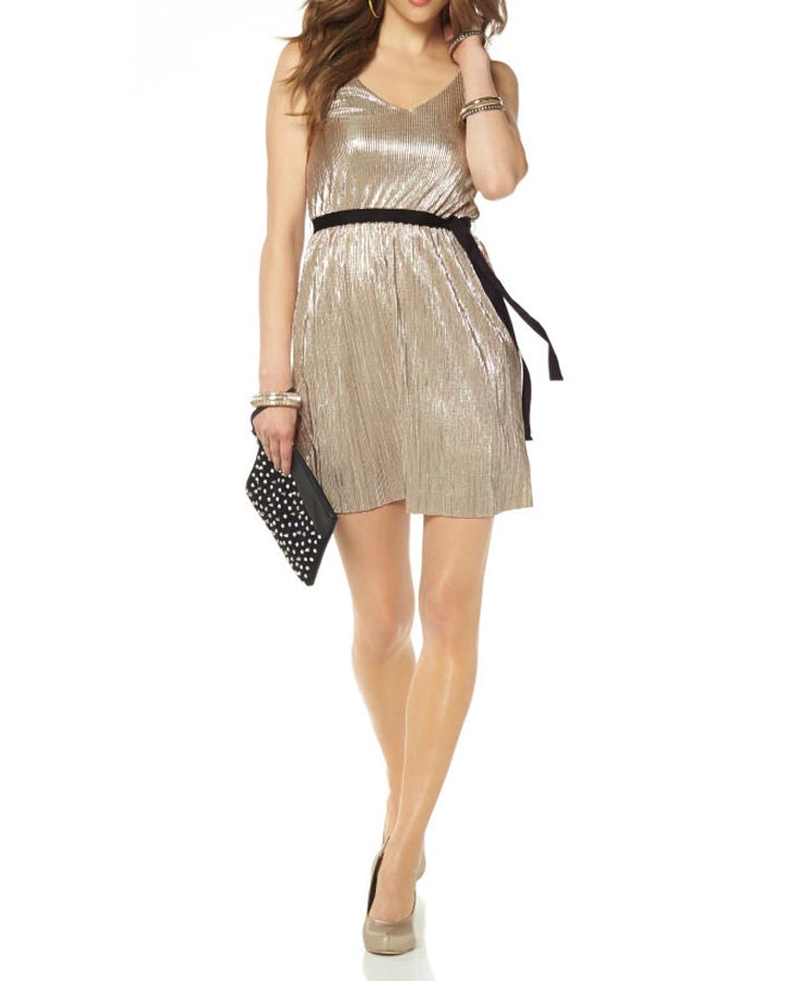 kurzes kleid für besondere anlässe Cocktailkleid m. Gürtel, silber-beige von Laura Scott Evening Grösse 42 521.841 Missforty