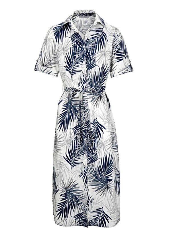 wadenlange kleider für besondere anlässe ASHLEY BROOKE Damen Designer-Druckkleid Grau-Marine 562.004 missforty