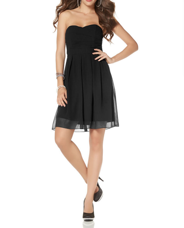 kurzes kleid für besondere anlässe Laura Scott Cocktailkleid schwarz 588.581 Missforty