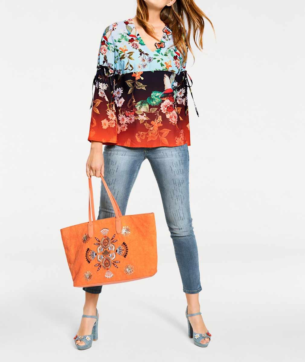 602.301 HEINE Shopper mit Pailletten, orange