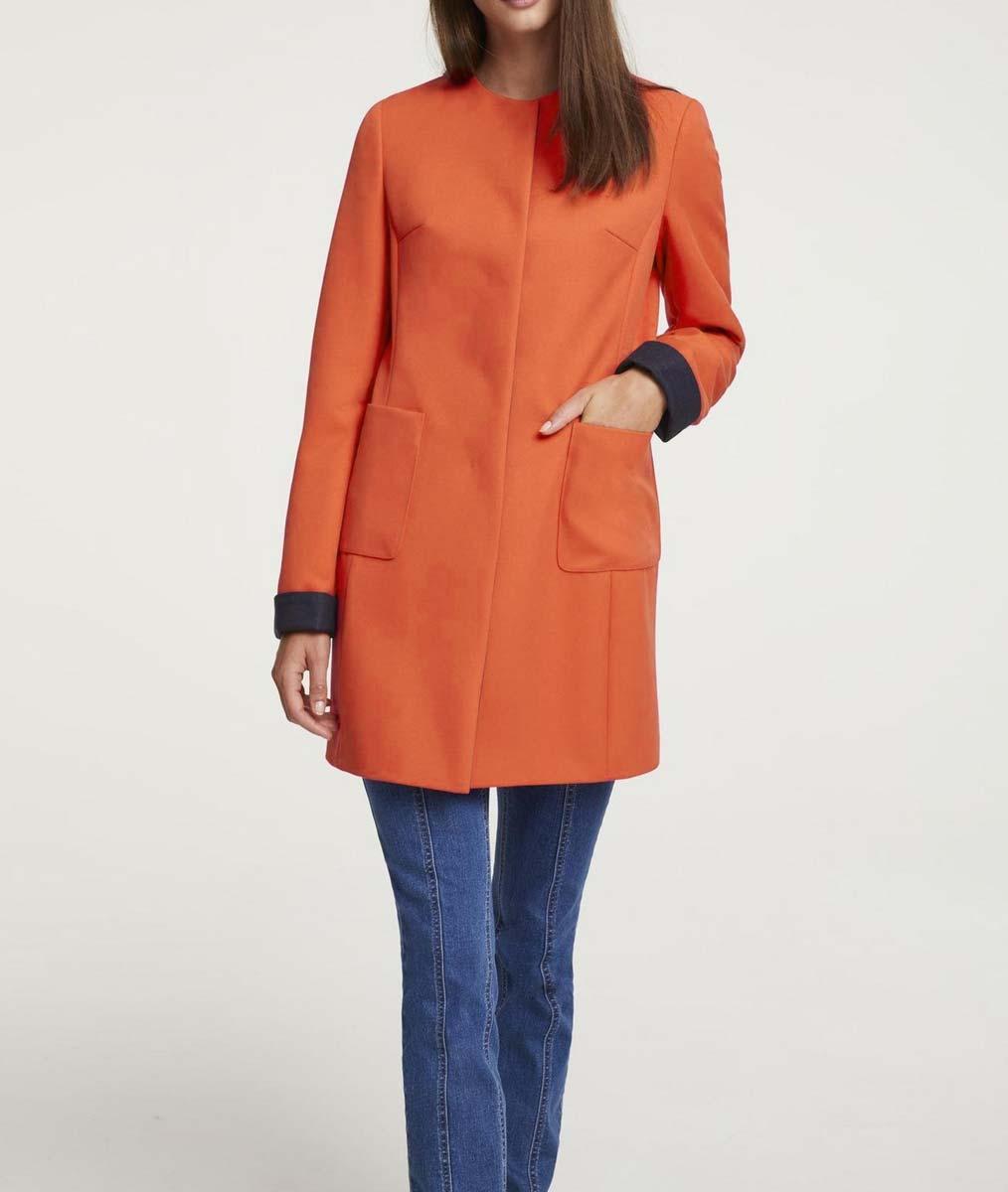 Damenmäntel Frühjahr 2021 Damenmantel Kurzmantel Damen Frühjahr 2021 Orange Damen Mantel Damen Kurz neu 649.236 Missforty