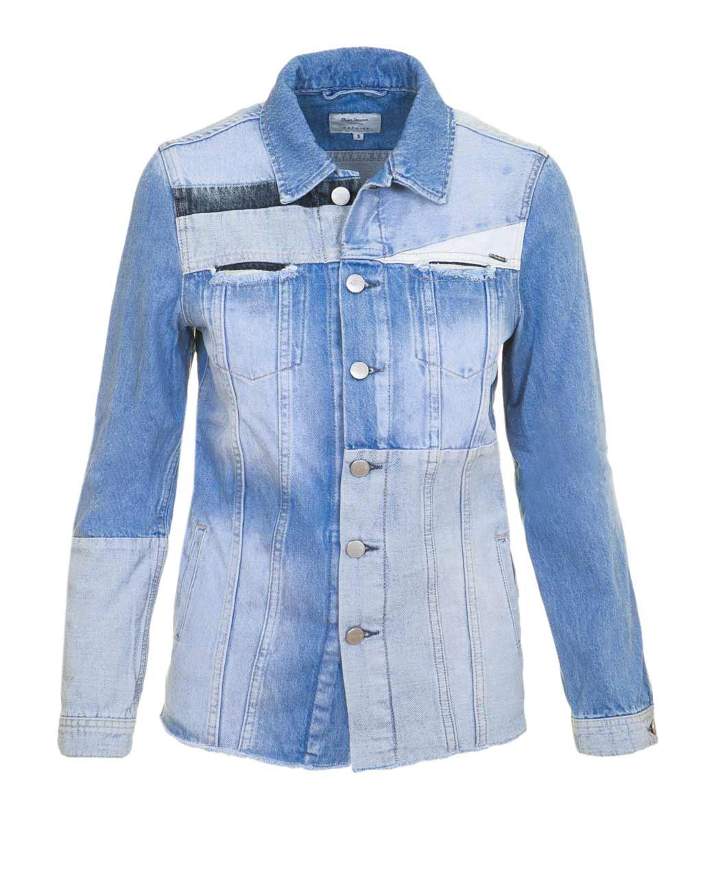 jacken auf rechnung bestellen als neukunde Pepe Jeans Damen Marken-Jeansjacke, hellblau Denim 652.180 MISSFORTY