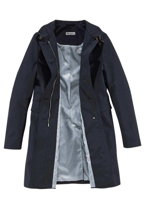 Damenmäntel Frühjahr 2021 Trenchcoat Damen blau ohne Gürtel Kurzmantel Damen Frühjahr Übergangsmantel 655.217 Missforty