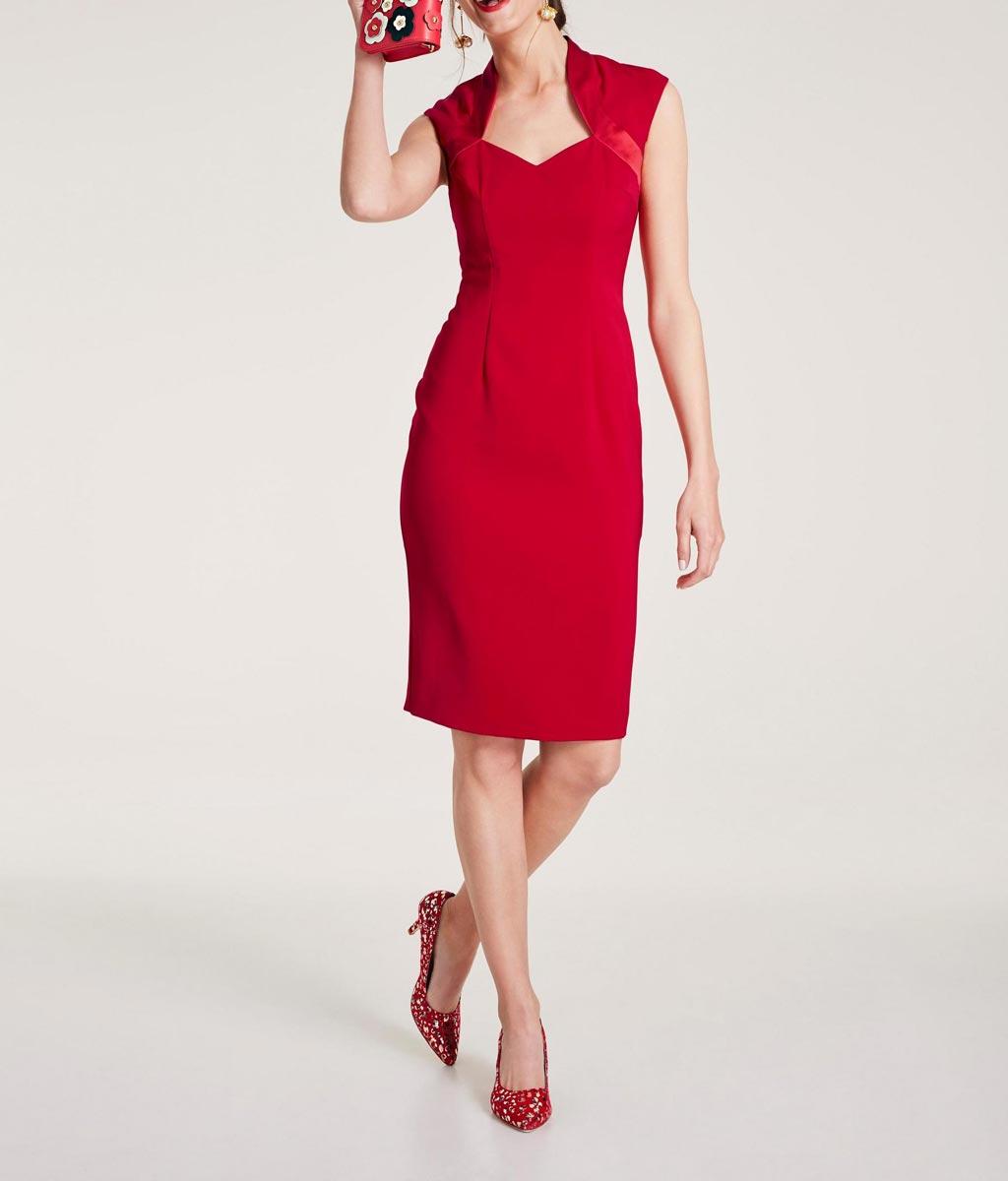 business kleider für damen HEINE Damen Designer-Etuikleid Rot 672.506 Missforty