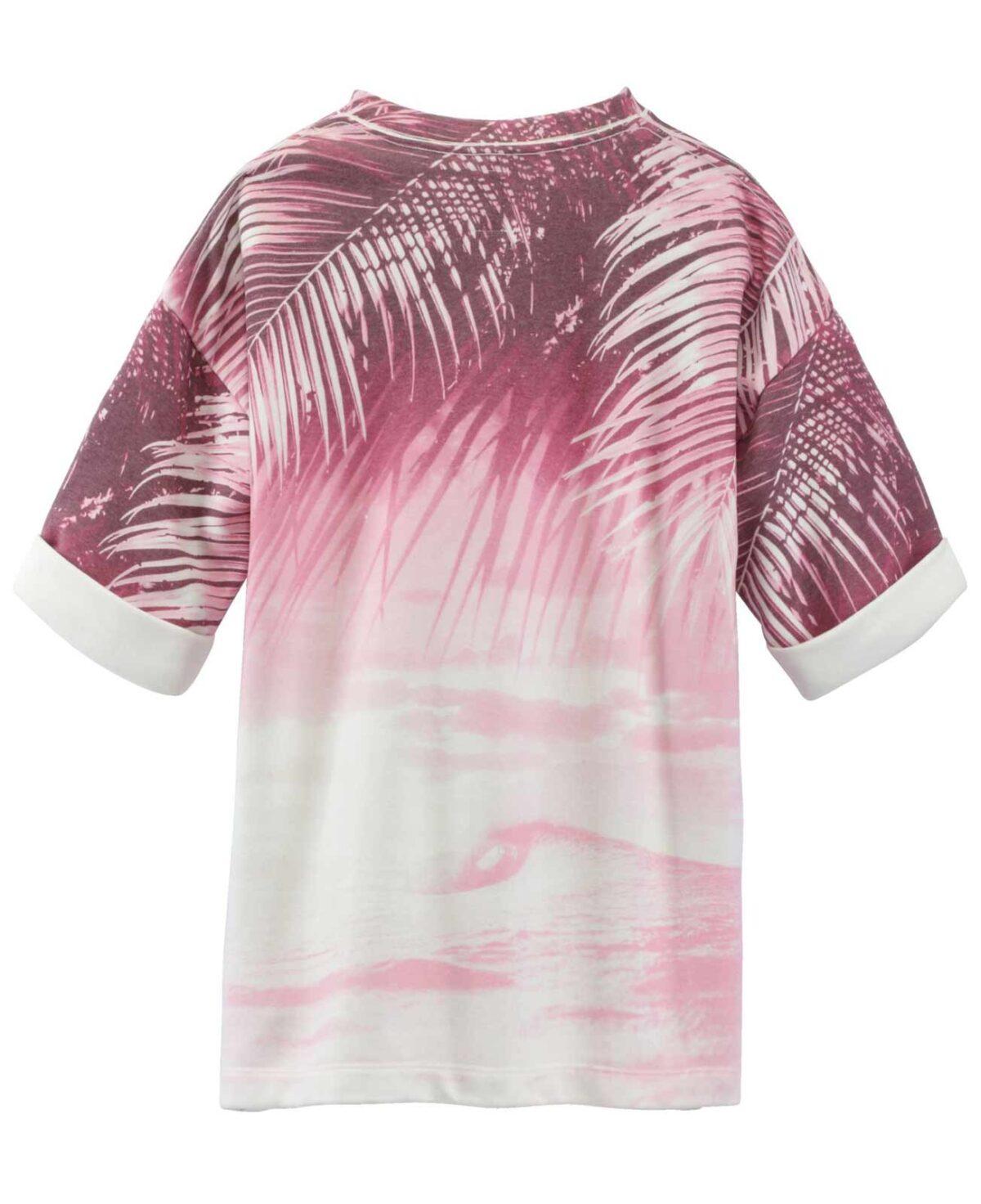 t shirts ohne ärmel REPLAY Damen-Sweatshirt Halbarm Rosa 726.400 Missforty