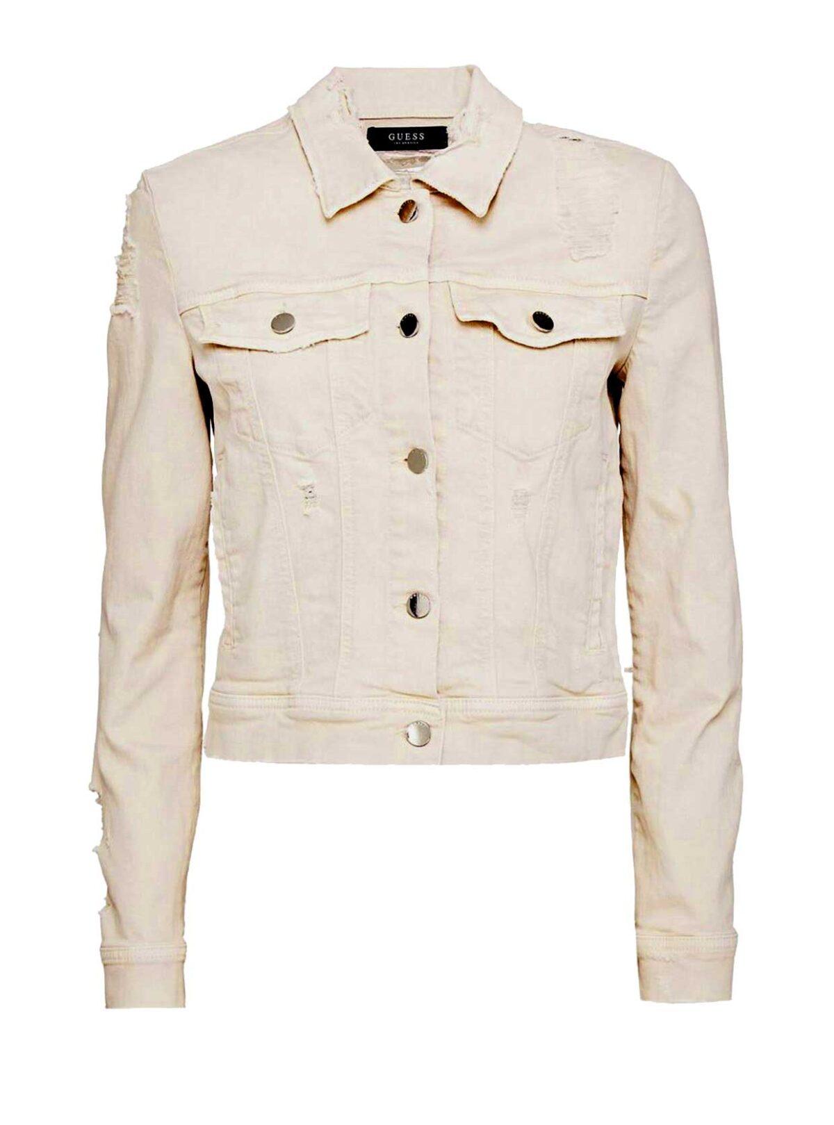jacken auf rechnung bestellen als neukunde GUESS Damen Designer-Jeansjacke Kurz 758.377 MISSFORTY