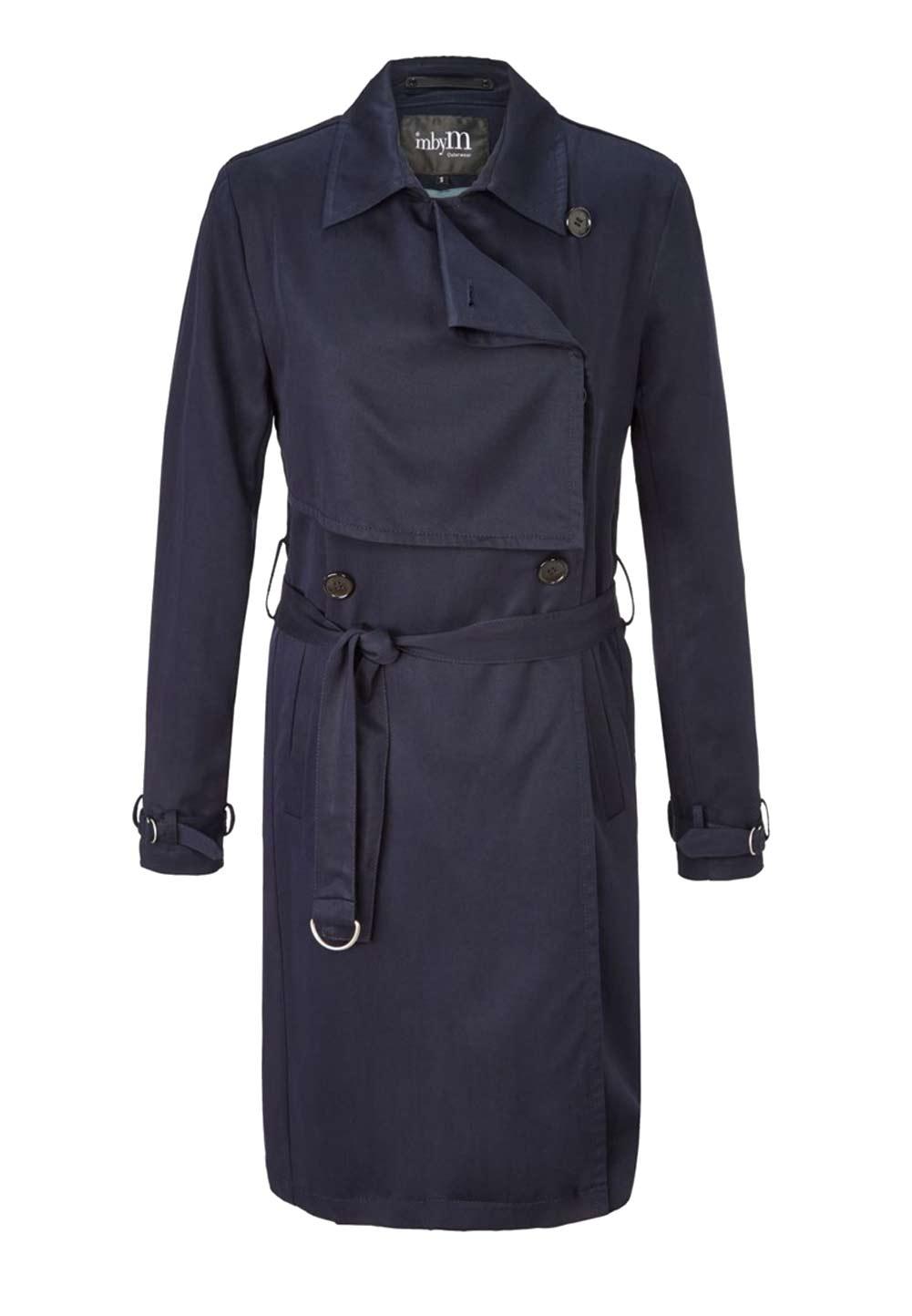 Damenmäntel Frühjahr 2021 Trenchcoat Übergangsmantel Damen Frühlingsjacke Damenmantel Mantel Damen blau 809.119 Missforty